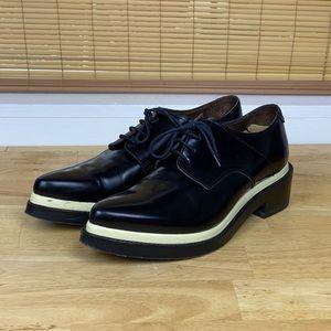 Acne Studios Women's Oxford Black Creeper Shoe